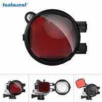 Fantaseal 2-in-1 Diving Lens Combo for GoPro Filter, Red Correction Filter + 16X Close Up Macro Lens Filter for Hero 4 3+ 3