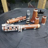 nux Freigh softwood Bb white copper button profession performs red wood clarinet