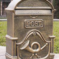 Garden decor Luxury Villa mailbox Aluminium alloy mail /