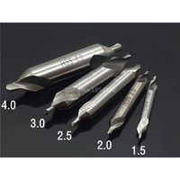 ManPingLu 1pc HSS Combined Center Drills Countersinks 60 Degree Angle Bit 1.5 Type