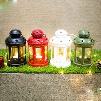 European Wrought Iron Windproof Lamp Candle Decorative