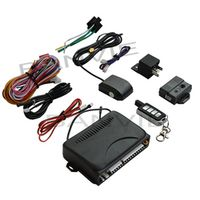 BANVIE 2 in 1 One way car alarm system GPS tracker with keyless entry remote trunk