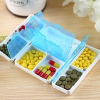 Cary-on Foldable Pill Box Mini Container Drug Tablet Storage Travel Case Holder 7 days Mini Cute Plastic Pill Box Medicine Case