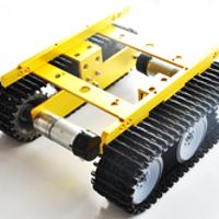 T100 Tank car, DC Motor with Hall Speed sensors, tank chassis/creeper truck/tracked smart car RC model car,Free shipping