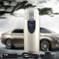BOGU NewDC12V Car Cigarette Lighter Heating Kettle Insulated Stainless Steel Water