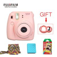 Fujifilm Instax Mini 8 Instant Camera + Fujifilm10 Sheets Films Paper + Camera Bag + Photo Case with Free Gift Close Up Lens