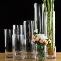 Jamal's European style transparent Tabletop Glass Vase