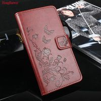 HongBaiwei 5.0inch Wallet Leather Phone Cover for ZTE Blade A520 Flip Pouch 520 Stand