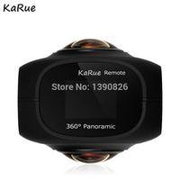 """karue Dual Lens Panoramic 4k HD 360 Camera Wifi 1"""" Screen Mini Digital Video"""