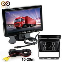 Sinairyu DC 12V 36V Truck Bus Parking Monitor System Included Rear View Camera 10M
