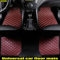 ZHAOYANHUA Car floor mats Case for Volkswagen Beetle Eos leather Anti-slip carpet