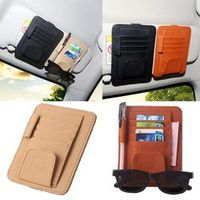 CARPRIE Car Styling Inerior Accessories Car Sun Visor Sunglasses Ticket Receipt Card