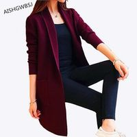 AISHGWBSJ Spring Autumn Knitted Sweater Cardigan Women Long