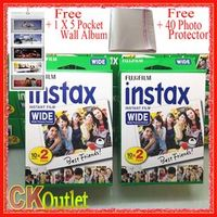 40 Sheets Fujifilm Instax Wide Film VALID UNTIL 2019-3 Wall Album Photo Protector