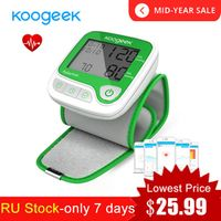 Koogeek Smart Wrist Blood Pressure Monitor with Heart Rate Detection Memory Function Fully Automatic Household Health Monitors