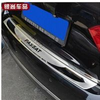 LB stainless steel Rear bumper Protector Sill for 2011-2013 VW Passat B7 Car styling