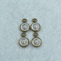 DIY jewelry accessories wholesale 30pcs/lot  metal antique bronze enamel floating charms clock pendant Z42296