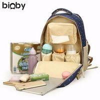 Oxford Fabric Baby Diaper Bag Nappy Changing Pad Mummy Bag Backpack Shoulder Bag Milk Bottle Mommy Bag Baby Care Supplies