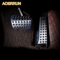 AOSRRUN Stainless steel Accelerator brake pedal Car Accessories For Mercedes Benz