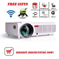 Poner Saund led96 5500lumens Android 4.4 1080P wifi led projector 3d home theater