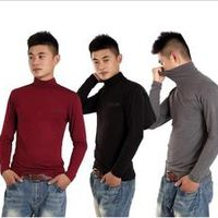 2017 new arrival Manufacturers wholesale men's long sleeve shirt collar modal  the high elastic bottoming plus size XL-4XL5XL6XL