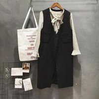 2017 Spring New Korean Version of The Sleeveless Vest Suit Jacket Long Vest Women's Clothing Y91