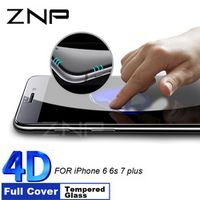 ZNP 4D Curved Full Cover Tempered Glass 8 8 Screen Protector Glass For iPhone