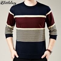 2017 brand social cotton thin men's pullover sweaters casual crocheted striped knitted sweater men masculino jersey clothes 1006