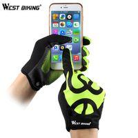 West Biking Bike Gloves Touch Screen GEL Anti-Slip Full Finger MTB Men Women
