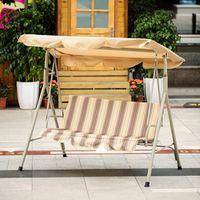 iKayaa 3 Seater Patio Canopy Glider Hammock Outdoor Porch