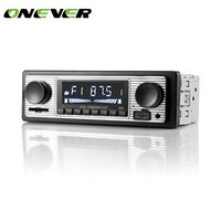 Onever 12V Bluetooth Auto Car Radio 1DIN Stereo Audio MP3 Player FM Receiver Support