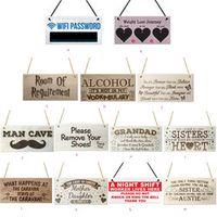 ISHOWTIENDA Rectangular gift pendant tag Vintage Wood