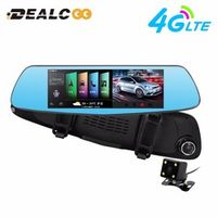 "Dealcoo 3G/4G 7"" Car Camera GPS Bluetooth Dual Lens Rearview Mirror Video Recorder"