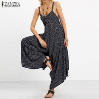 Oversized 2018 ZANZEA Rompers Womens Jumpsuit Sexy