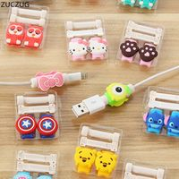 ZUCZUG 1 Cute Lovely Cartoon 8 Pin Protector de cabo USB Cable Winder Cover