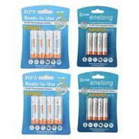 BPI 8Pc/1card 1.2V 2100mAh AA 8Pcs/1card 900mAh AAA NI-MH AA/AAA Rechargeable Battery