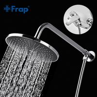 FRAP 200*200mm ABS Shower Head with Stainless Steel Arm Top Water Saving Overhead