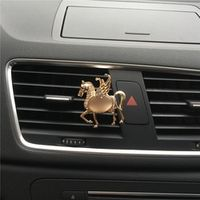 Hazy beauty Luxury Angel diamond air outlet horse perfume clip Car Air Freshener
