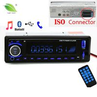 Light heart 12V Car Radio Stereo Audio Player Bluetooth Phone AUX-IN MP3 FM USB 1 Din