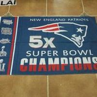 3X5FT 2017 New England Patriots flag Super Bowl Champion banner Digital printing