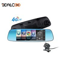 Dealcoo Dash Cam Car DVR Digital Video Recorder 7' Screen Android Rearview Mirror