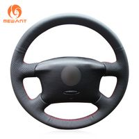 MEWANT Black Artificial Leather Car Steering Wheel Cover for Volkswagen VW Passat B5