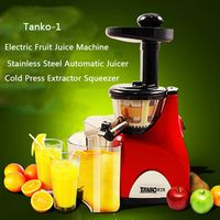 2017 Tanko-1 Stainless Steel Automatic Slow Juicer Electric Fruit Juice Machine Cold Press Extractor Squeezer Home use