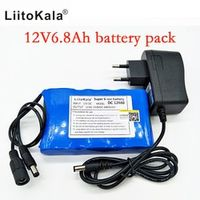 Liitokala Portable Super Rechargeable Lithium Ion battery pack capacity DC 12V 6800
