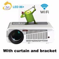 LED86 wifi Android 4.4.2 HD 3D Smart LED 5500 lumens Projector 1080p HDMI Video
