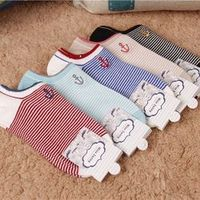 20Pairs/Lot men socks all-match Pinstripe cotton sock summer shallow thin socks and anchor embroidery socks