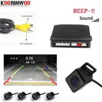 Koorinwoo Parktronic Car Parking Sensor 4 Video Sound Sysem Alarm Probe Car-detector