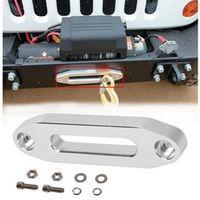 1 set 5600.3096 MAGNA Polished Aluminum Universal ATV / UTV Hawse Fairlead for Synthetic Rope with screws