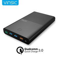 Vinsic 28000mAh Power Bank 18650mAh for iphone x 7 8 PLUS QC 3.0 Output Input 2.4A