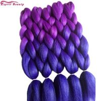 """5PCS Esprit Beauty High Temperature Fiber Ombre Synthetic Jumbo Braids Hair Extensions 24"""" For African Crochet Box Rope Twists"""
